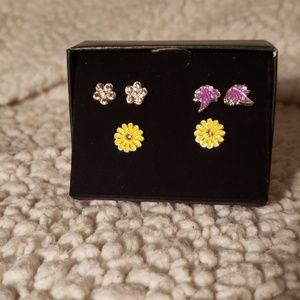 Avon's Spring Garden 3 pair stud set